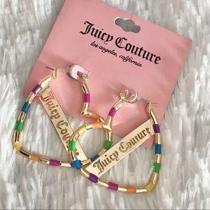 NWT JUICY COUTURE heart earrings hoop